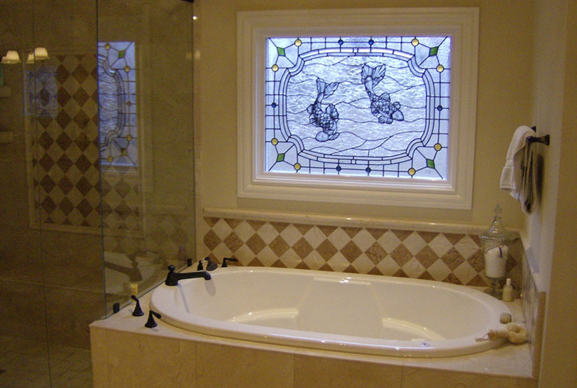 Hendricks stained glass nashville tn residential for Stained glass bathroom window designs